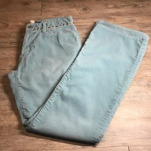 Baby Blue Gap Corduroy Low Rise Flare Pants